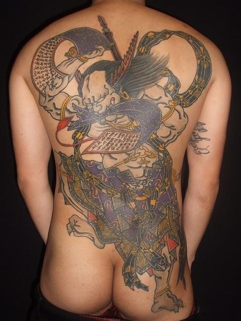 第六天魔王、天魔破旬の刺青タトゥー