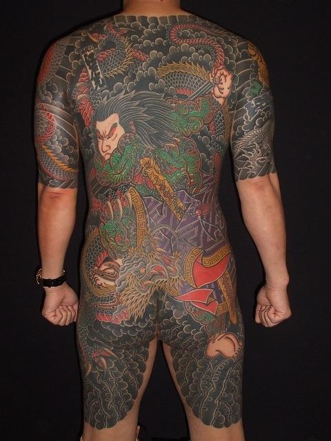 九紋龍史進の刺青タトゥー
