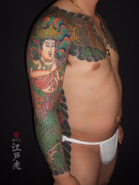 腕、大日如来、刺青