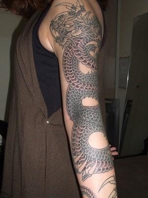 黒龍 女性腕 刺青