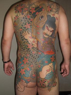 鬼若丸の刺青、背中