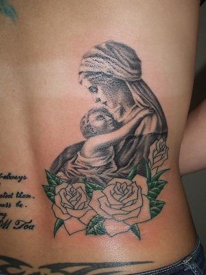 聖母マリアの刺青(女性腰