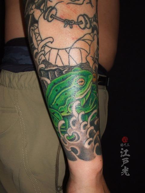 蛙の刺青タトゥー