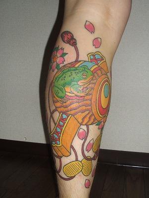 小槌と蛙の刺青