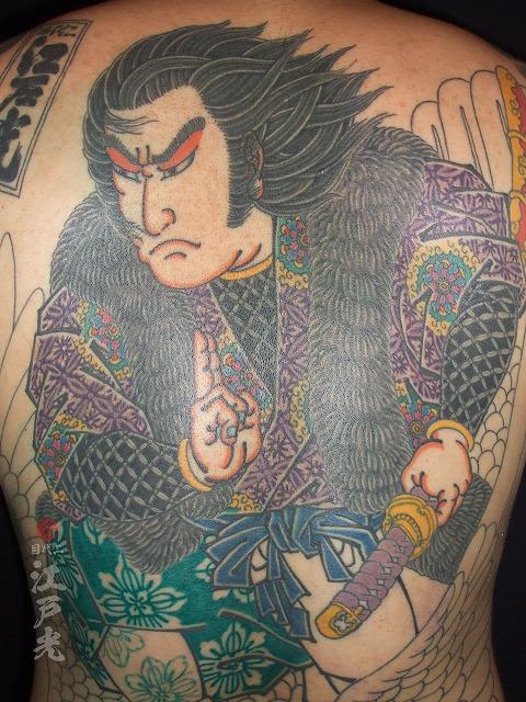 背中、和彫り、着物の柄、種類、刺青タトゥー