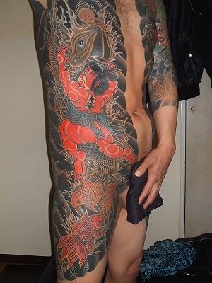 金太郎の刺青 胸割り、鯉退治