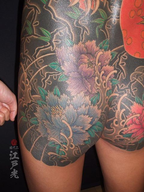 牡丹の刺青タトゥー