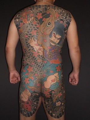 鬼若丸の鯉退治の刺青