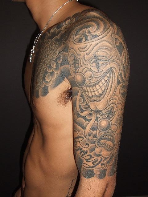 刺青、からす彫り、 トゥーフェイス